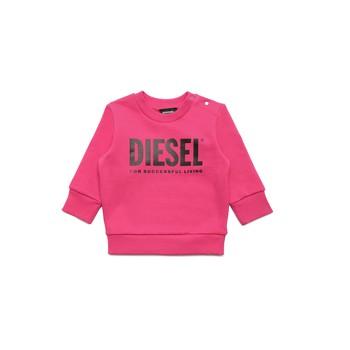 textil Flickor Sweatshirts Diesel SCREWDIVISION LOGOB Rosa