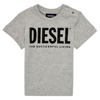 textil Barn T-shirts Diesel TJUSTLOGOB Grå