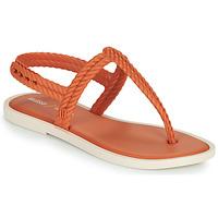 Skor Dam Flip-flops Melissa FLASH SANDAL & SALINAS Orange / Beige