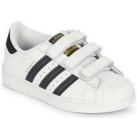 Skor Barn Sneakers adidas Originals SUPERSTAR CF C Vit / Svart