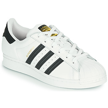Skor Barn Sneakers adidas Originals SUPERSTAR J Vit / Svart