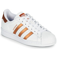 Skor Dam Sneakers adidas Originals SUPERSTAR W Vit / Brons