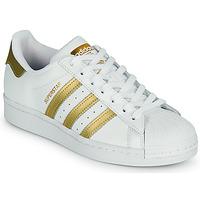 Skor Dam Sneakers adidas Originals SUPERSTAR W Vit / Guldfärgad