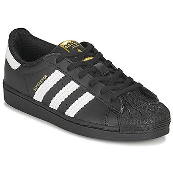 Skor Barn Sneakers adidas Originals SUPERSTAR C Svart / Vit