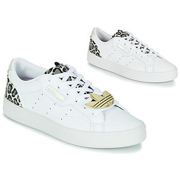 Skor Dam Sneakers adidas Originals adidas SLEEK W Vit / Leopard