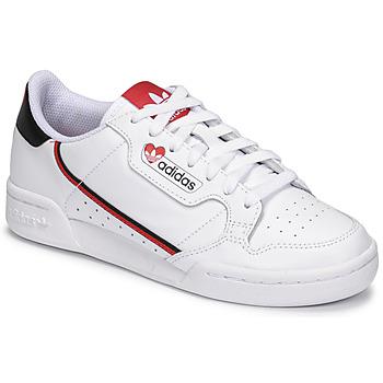 Skor Dam Sneakers adidas Originals CONTINENTAL 80 Vit / Röd
