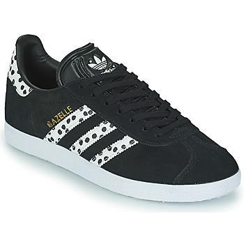 Skor Dam Sneakers adidas Originals GAZELLE W Svart / Vit