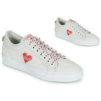 Skor Dam Sneakers adidas Originals NIZZA  TREFOIL W Vit / Röd
