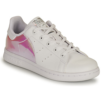 Skor Flickor Sneakers adidas Originals STAN SMITH C SUSTAINABLE Vit / Rosa / Regnbågsfärgat