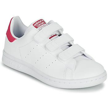 Skor Flickor Sneakers adidas Originals STAN SMITH CF C SUSTAINABLE Vit / Rosa