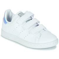 Skor Flickor Sneakers adidas Originals STAN SMITH CF C SUSTAINABLE Vit / Regnbågsfärgat