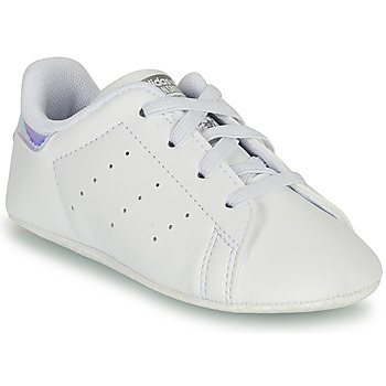 Skor Flickor Sneakers adidas Originals STAN SMITH CRIB SUSTAINABLE Vit / Silverfärgad