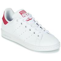 Skor Flickor Sneakers adidas Originals STAN SMITH J SUSTAINABLE Vit / Rosa