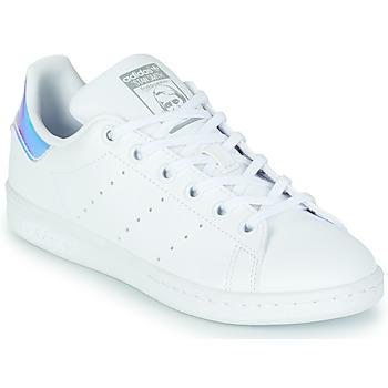 Skor Flickor Sneakers adidas Originals STAN SMITH J SUSTAINABLE Vit / Regnbågsfärgat