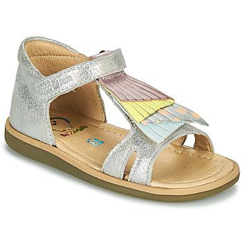 Skor Flickor Sandaler Shoo Pom TITY FALLS Silver