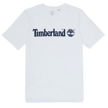 textil Pojkar T-shirts Timberland FONTANA Vit