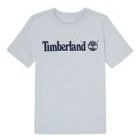 textil Pojkar T-shirts Timberland NINNO Grå