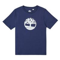 textil Pojkar T-shirts Timberland TRISTA Blå