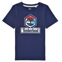 textil Pojkar T-shirts Timberland GRISS Marin