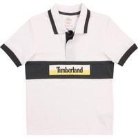 textil Pojkar Kortärmade pikétröjor Timberland DOTTO Vit