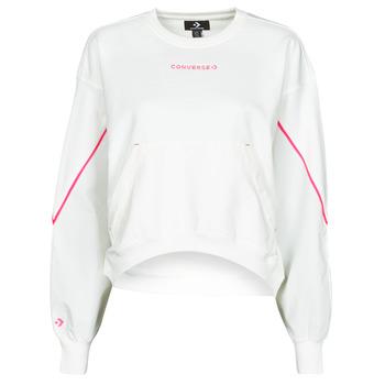 textil Dam Sweatshirts Converse BLOCKED ALTERRAIN CREW Vit