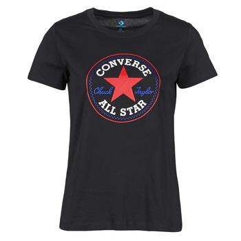textil Dam T-shirts Converse CHUCK PATCH NOVA TEE Svart