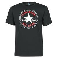 textil Herr T-shirts Converse NOVA CHUCK PATCH TEE Svart