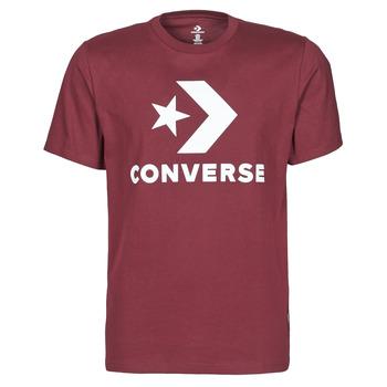 textil Herr T-shirts Converse STAR CHEVRON TEE Bordeaux