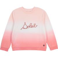 textil Flickor Sweatshirts Carrément Beau Y15373-N44 Vit / Rosa