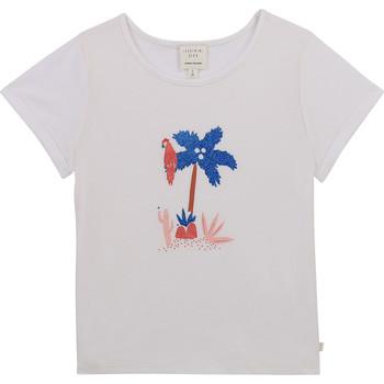 textil Flickor T-shirts Carrément Beau Y15383-10B Vit
