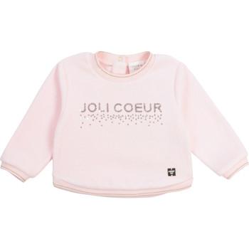 textil Flickor Sweatshirts Carrément Beau Y95254-44L Rosa