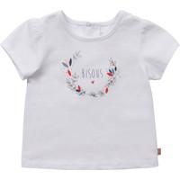 textil Flickor T-shirts Carrément Beau Y95270-10B Vit