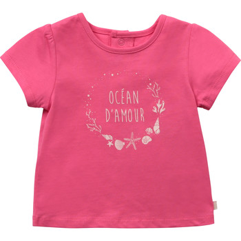 textil Flickor T-shirts Carrément Beau Y95270-46C Rosa