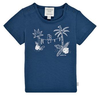 textil Pojkar T-shirts Carrément Beau Y95274-827 Marin