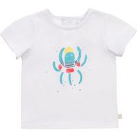 textil Pojkar T-shirts Carrément Beau Y95275-10B Vit