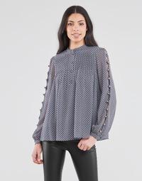 textil Dam Blusar MICHAEL Michael Kors MINI FLORAL LS TOP Marin