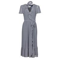 textil Dam Långklänningar MICHAEL Michael Kors MINI BICOLR 60S FLRL DRS Blå