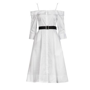 textil Dam Långklänningar Karl Lagerfeld COLDSHOULDERSHIRTDRESS Vit