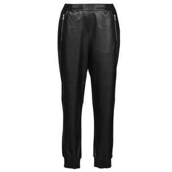 textil Dam 5-ficksbyxor Karl Lagerfeld FAUXLEATHERJOGGERS Svart