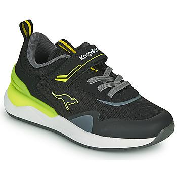 Skor Pojkar Sneakers Kangaroos KD-GYM EV Svart / Gul