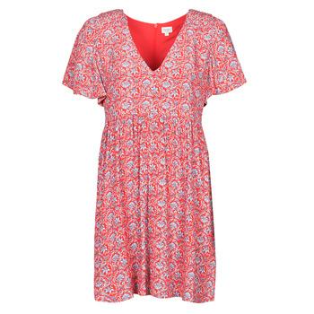 textil Dam Korta klänningar Pepe jeans CAROLINA Röd / Blå