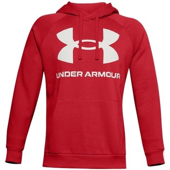 textil Herr Sweatshirts Under Armour Rival Fleece Big Logo HD Röda