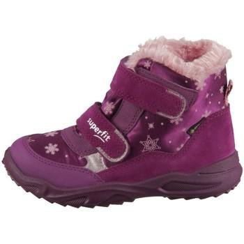 Skor Barn Höga sneakers Superfit Glacier Rosa,Lila