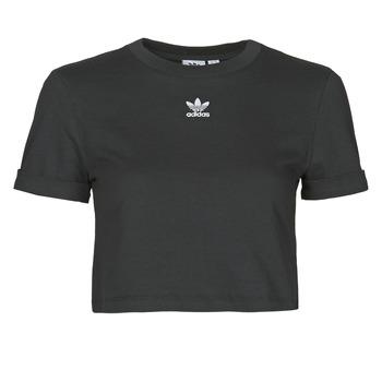 textil Dam T-shirts adidas Originals CROP TOP Svart