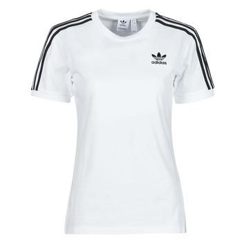 textil Dam T-shirts adidas Originals 3 STRIPES TEE Vit