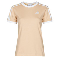textil Dam T-shirts adidas Originals 3 STRIPES TEE Orange