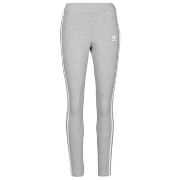 textil Dam Leggings adidas Originals 3 STRIPES TIGHT Grå