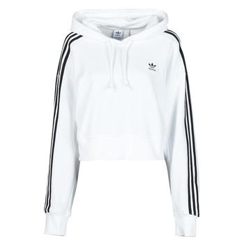 textil Dam Sweatshirts adidas Originals SHORT HOODIE Vit