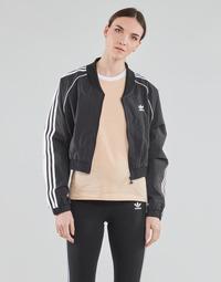 textil Dam Sweatjackets adidas Originals SHORT TRACKTOP Svart