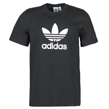 textil Herr T-shirts adidas Originals TREFOIL T-SHIRT Svart